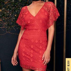 NWOT Lulus red mini dress